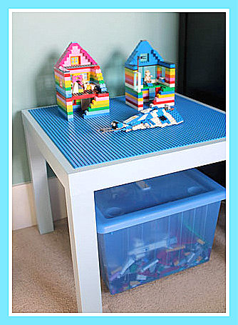 related images. Girls side and boys side  Girls Pink LEGO DUPLO Table